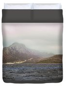 Fog, Wind And Waves Duvet Cover