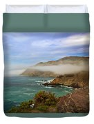 Foggy Day At Big Sur Duvet Cover