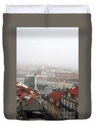 Foggy Day At Lisbon. Portugal Duvet Cover