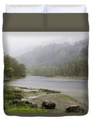 Foggy Day At Loch Lubnaig Duvet Cover