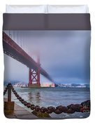 Foggy Day At The Golden Gate Bridge Duvet Cover