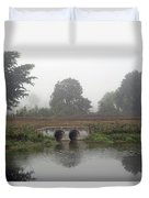 Foggy Day On A Canal Duvet Cover