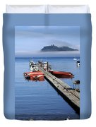 Foggy Dock Duvet Cover