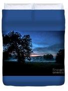 Foggy Evening In Vermont - Landscape Duvet Cover