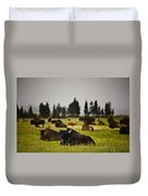 Foggy Herd Duvet Cover