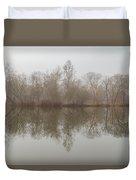 Foggy Lagoon Reflection #5 Duvet Cover