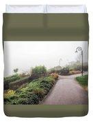 Foggy Langmoor Gardens - Lyme Regis Duvet Cover