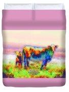 Foggy Mist Cows #0090 Arty Duvet Cover