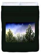 Foggy Moonlit Night Duvet Cover