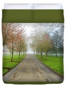 Foggy Morning At The Park Duvet Cover