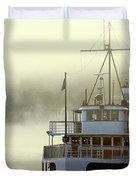 Foggy Morning Cruise Duvet Cover