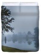 Foggy Morning In Alva Florida Duvet Cover