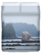 Foggy Morning On The Pacific Coast Duvet Cover