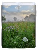 Foggy Prairie In Glacial Park In Mchenry County Duvet Cover