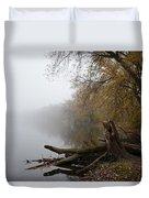 Foggy River Bank Duvet Cover