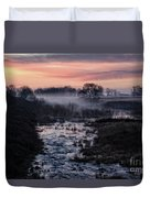 Foggy Sunrise At Chasewater Duvet Cover