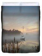 Foggy Sunrise At Great Pond 3 Duvet Cover