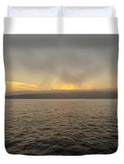 Foggy Sunset Duvet Cover