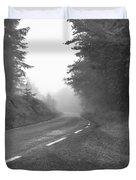 foggy way  BW Duvet Cover