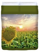 Foggy Yellow Fields 3 Duvet Cover