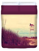Foghorn At Big Sable Point Duvet Cover