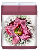 Foiled Beauty - Daylily Duvet Cover