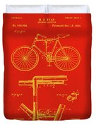 Folding Bycycle Patent Drawing 1c Duvet Cover