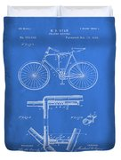 Folding Bycycle Patent Drawing 1d Duvet Cover