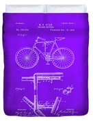 Folding Bycycle Patent Drawing 1e Duvet Cover