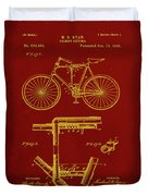 Folding Bycycle Patent Drawing 1f Duvet Cover