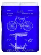 Folding Bycycle Patent Drawing 1h Duvet Cover