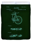 Folding Bycycle Patent Drawing 2a Duvet Cover