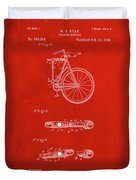 Folding Bycycle Patent Drawing 2b Duvet Cover
