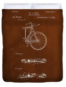 Folding Bycycle Patent Drawing 2c Duvet Cover