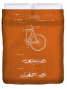 Folding Bycycle Patent Drawing 2e Duvet Cover