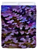 Foliage Abstract In Blue, Pink And Sienna Duvet Cover