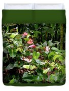 Foliage And Flowers Duvet Cover