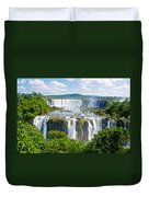 Foliage In And Around Waterfalls In Iguazu Falls National Park-brazil  Duvet Cover