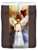 Folk Art Angel Duvet Cover