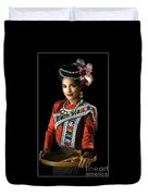 Folk Dancer Of The North East Duvet Cover
