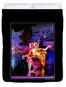 Folk Dancing Of Isaan Duvet Cover