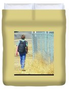 Following The Fence Home Duvet Cover