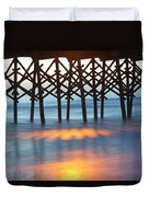 Folly Beach Abstract Duvet Cover