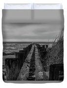 Folly Beach Anti Erosion Pier Duvet Cover