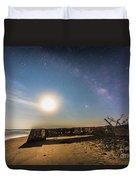 Folly Beach Milky Way Duvet Cover