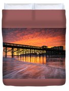 Folly Beach Pier And Waterfront Development Charleston South Carolina Duvet Cover