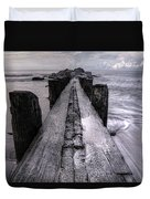 Folly Beach Pilings Charleston South Carolina Duvet Cover