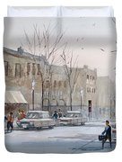Fond du Lac - Downtown Duvet Cover by Ryan Radke
