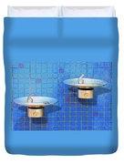Fontaine Bleue Duvet Cover