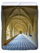 Fontevraud Abbey Cloister, Loire, France Duvet Cover